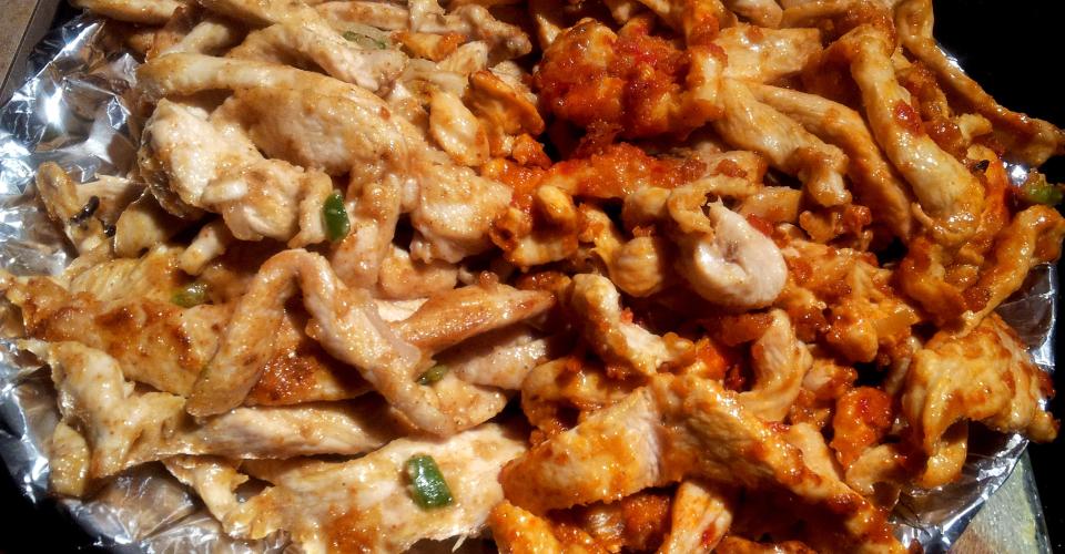Nigerian Chicken Shawarma- Stir-Fry Chicken Strips (Wrap Mixture ...