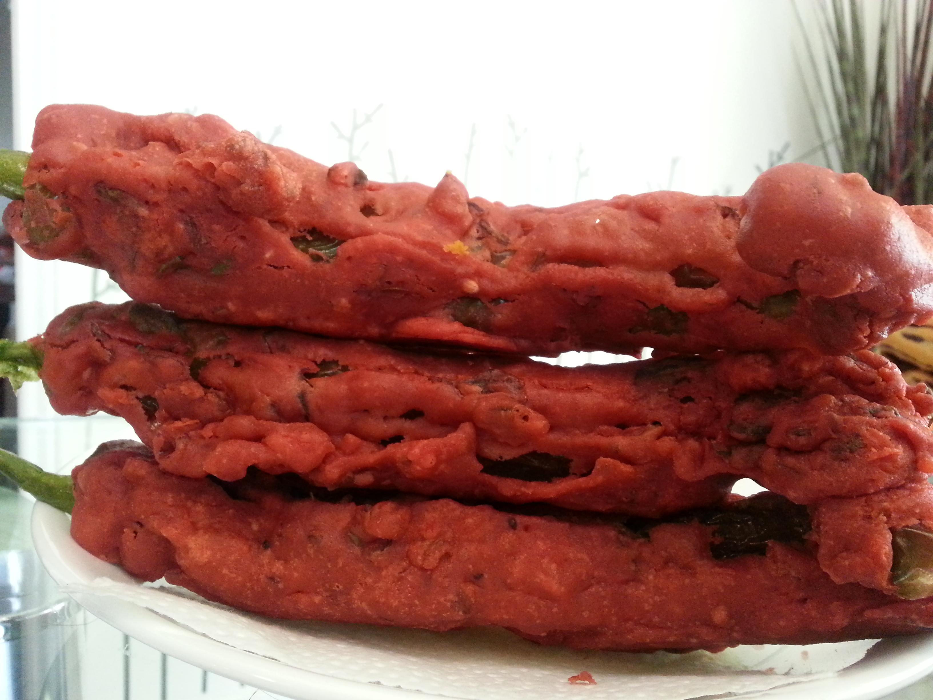 Stuffed Chili Pepper Fritters