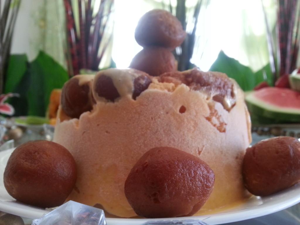 Gulab Jamun Kulfi Cake