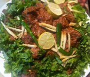 Hara Dhaniya Masala Bhuna Gosht- Coriander Meat Fry