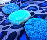 Sugar Cookies with Frosting and Sprinkles