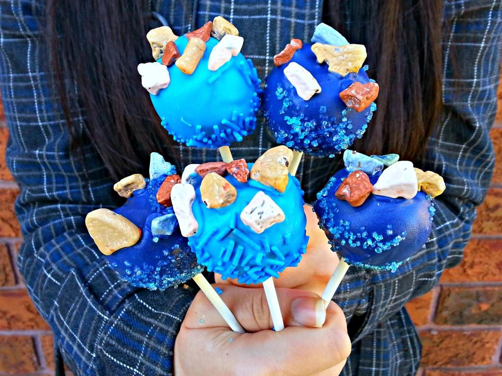 Blue Navy Cake Pops
