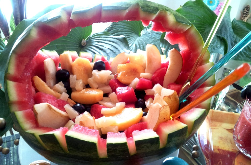 Watermelon Basket filled Fruits