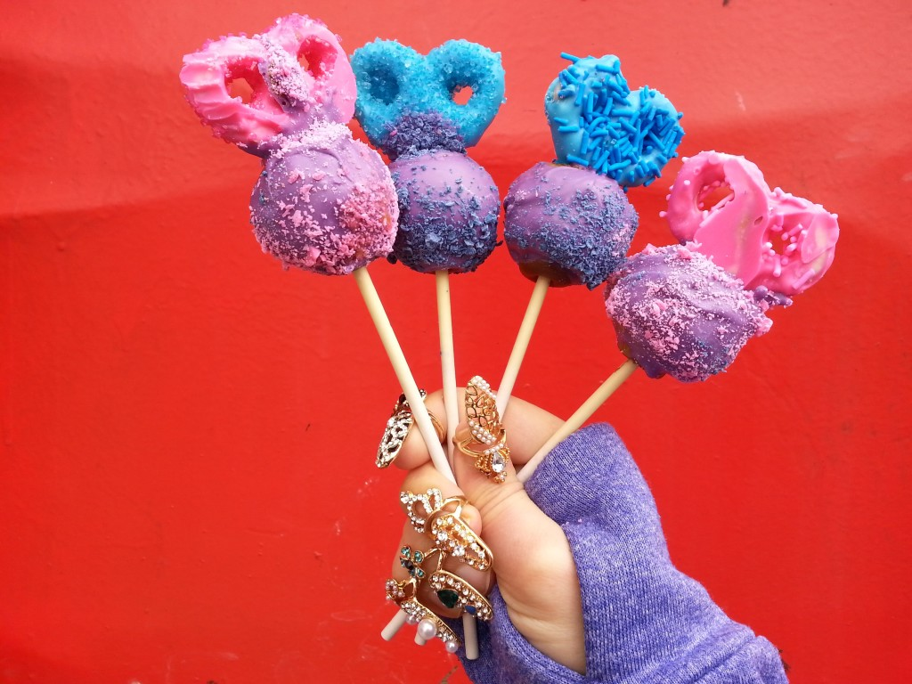 pretzel purple cakepops