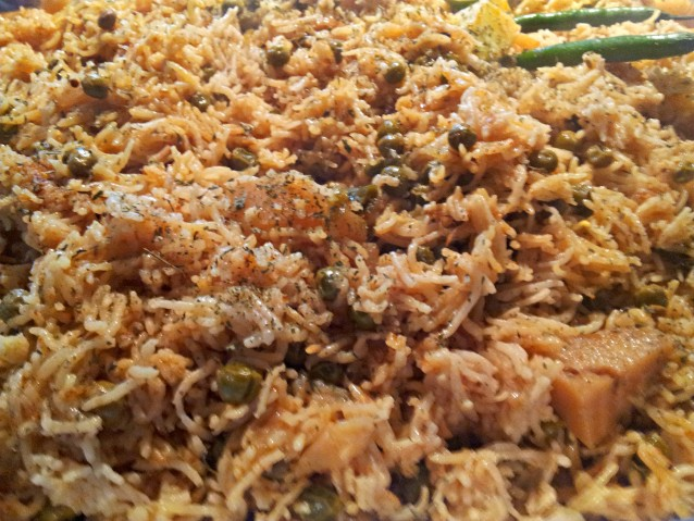 Matar and Aloo Pulao