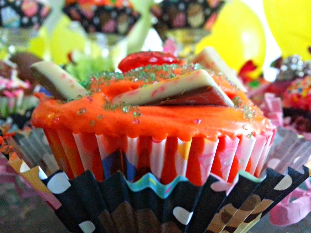 Multi-Colored Cupcake