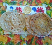 Aloo Paneer Paratha (Stuffed Potato and Cottage Cheese Paratha)