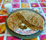 Palak Paneer Paratha Recipe (Spinach and Cottage Cheese Flatbread)