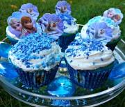 Disney's FROZEN Blue Cupcakes (Elsa, Anna, Olaf)