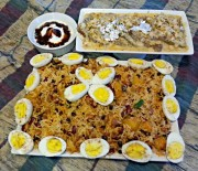Potato Tri-Beans Biryani and Eggs Recipe
