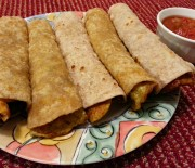 Chapati (Roti)-Omelet Roll