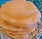 Maida Poori or White Flour Puri.