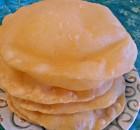 Maida Poori or White Flour Puri.