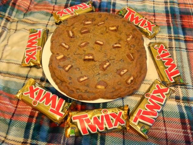 Twix Bar Chocolate Chip Cookies